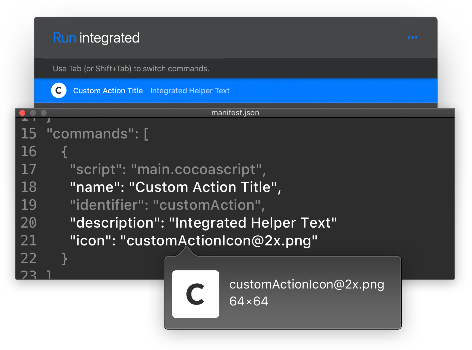 Example integration of a custom plugin in Runner search